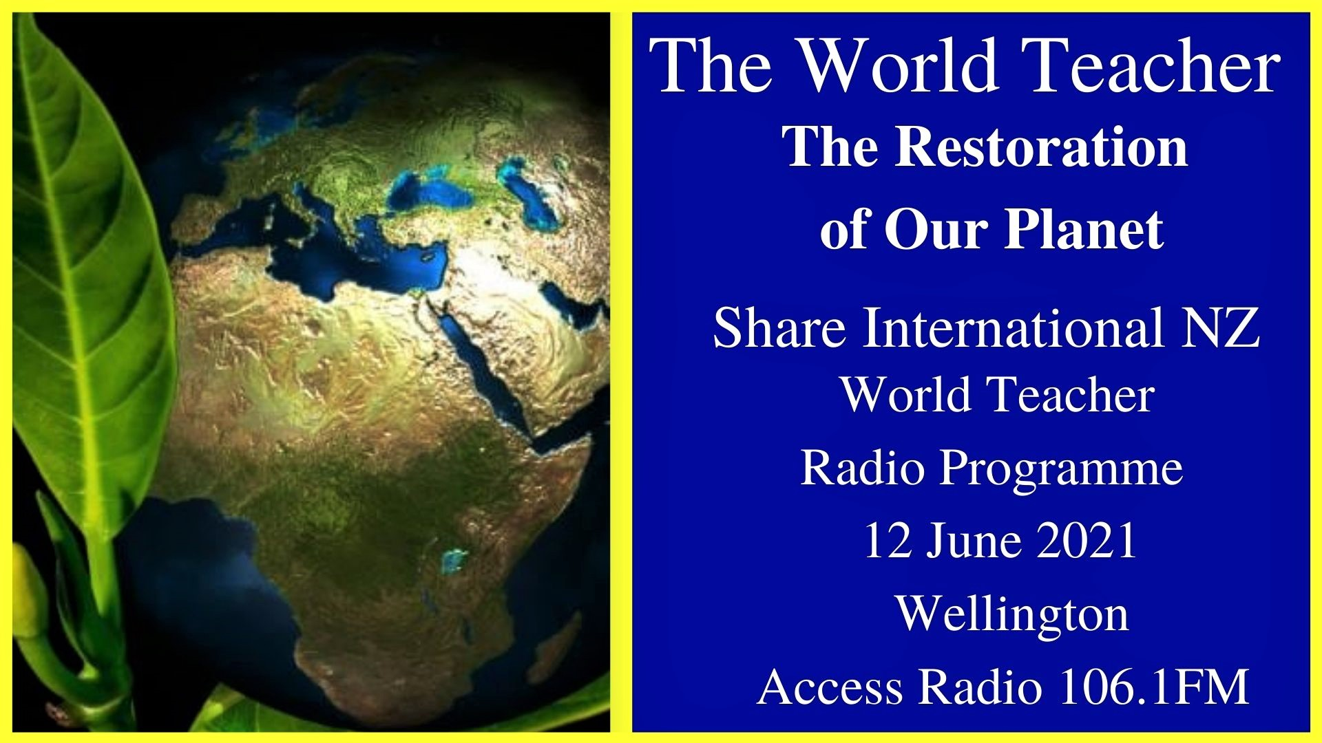 32) The Restoration of Our Planet