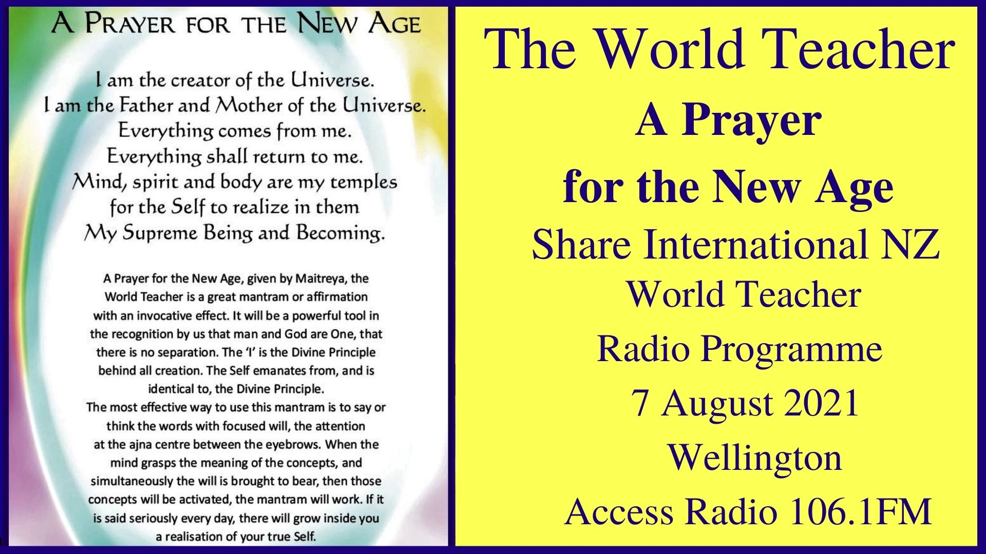 34) A Prayer for the New Age