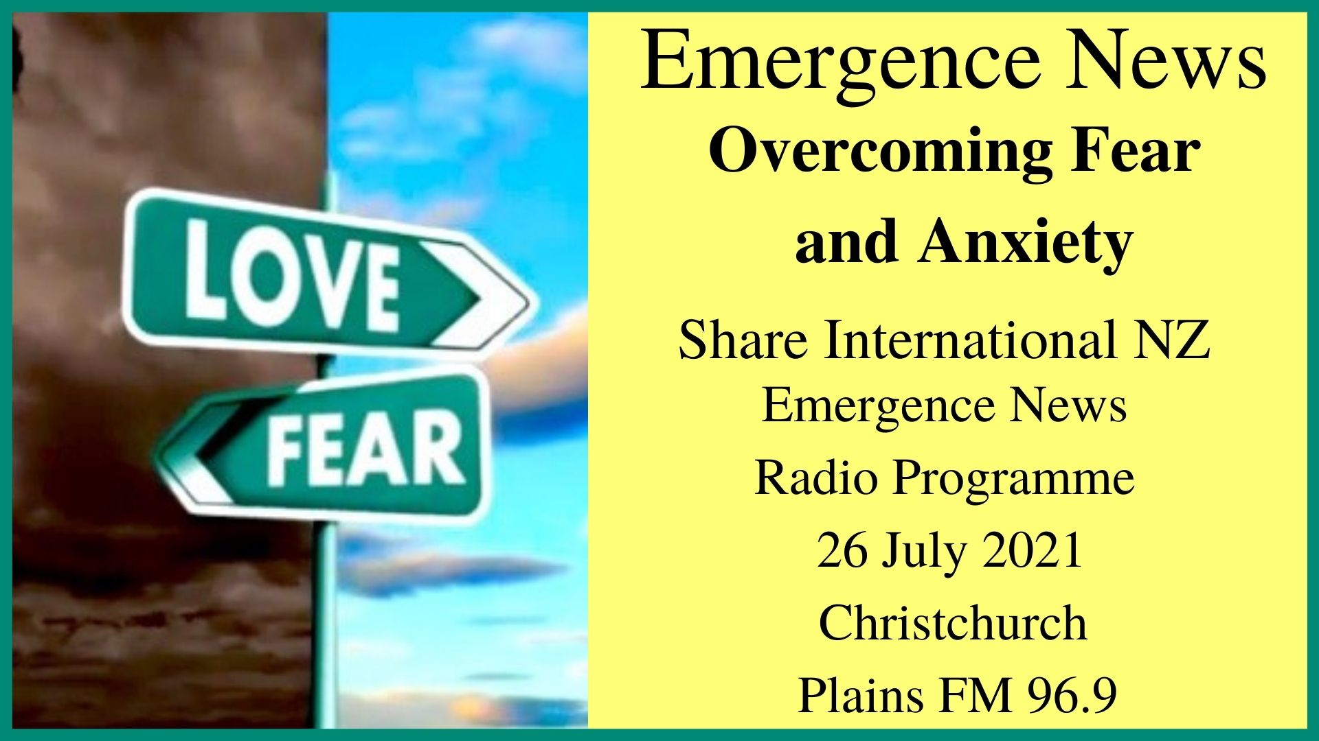 55) Overcoming Fear and Anxiety